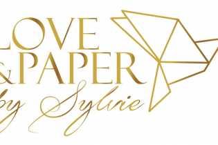 logo loveandpaper gold V-1