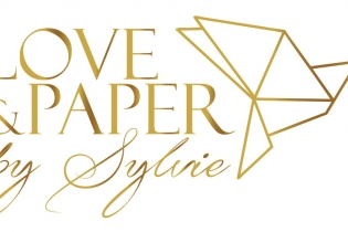 logo loveandpaper gold V-1